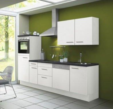 Kitchenette CONCEPT Bengt 270 cm wit incl. Ingebouwde apparaten RAI-532