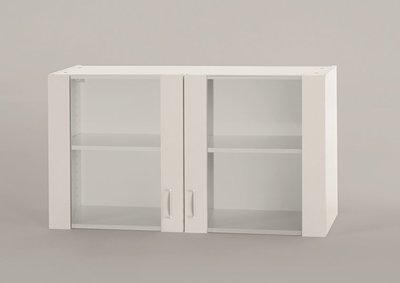 Bovenkast Klassiek 50 Wit met glas 100cm x 32 cm O500-6-OPTI-37
