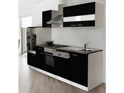 Keuken Compleet Hoogglans Zwart 280cm HUS-1168
