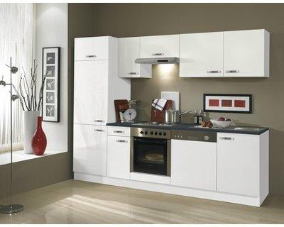 Keuken Lagos hoogglans wit 270cm OPTI-126