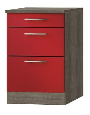 Kabinet Imola signaal rood satijn (BxHxD) 60,0x84,8x60,0 cm HRG-5125