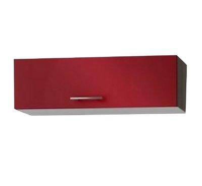 Wandkast met klepdeuren rood (BxHxD) 100x34x34 cm OPTI-52
