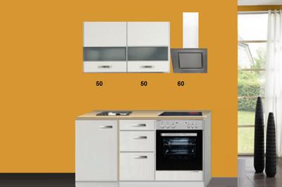 Kitchenette 160 CM incl inbouw app en bovenkasten 2100-10