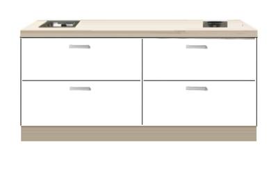 Kitchenette 200cm Wit mat Zamora RAI-44439