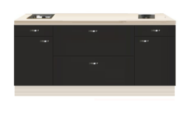 Kitchenette 200cm antraciet RAI-44239