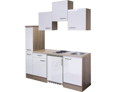 Kitchenette wit mat 180 cm incl. Inbouwapparaten RAI-99920