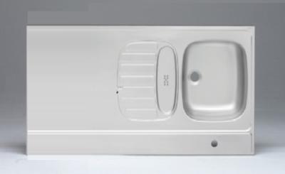 RVS aanrechtblad opleg 80cm x 60cm RAI-384