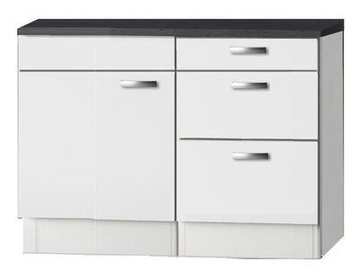 Keukenblok wit hoogglans 110cm OPTI-244