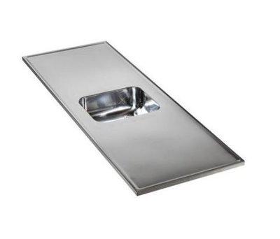 rvs aanrechtblad opleg 150cm x 60cm RAI-2500