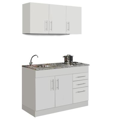 Mini Keuken Toronto Wit 120 cm x 60 cm  incl. e-kookplaat HRG-4399