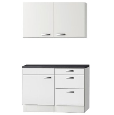Keukenblok wit hoogglans 110cm OPTI-2441