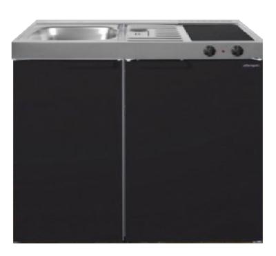 MK 90 Zwart mat met koelkast  RAI-9515