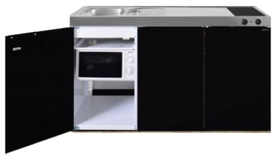 MKM 150 Zwart metalic met  losse magnetron en koelkast RAI-339