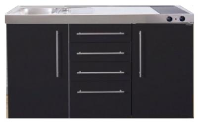 MPS4 150 Zwart mat met koelkast en 4 ladekasten RAI-9537