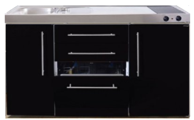 MPGS 150 Zwart metalic met vaatwasser en koelkast RAI-9541