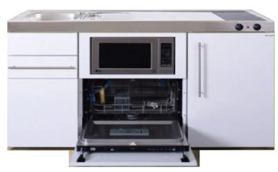 MPGSM 150 Wit met vaatwasser, koelkast en magnetron RAI-929