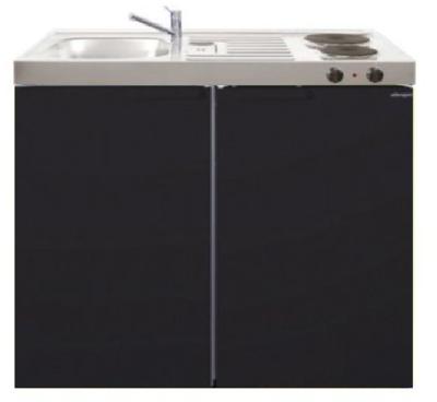 MK 100 Zwart mat met koelkast  RAI-9527