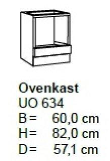 Oven inbouw onderkastkast 60cm UO634-9