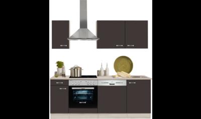 keukenblok 210 cm Faro, antraciet incl e-apparaten mat RAI-127