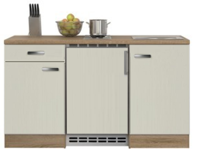 Kitchenette 150 cm cream incl koelkast ARG-224