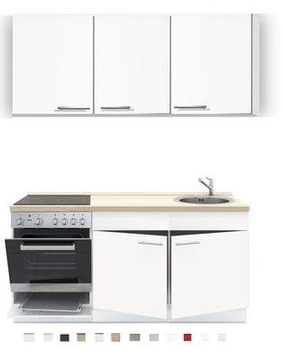 3-in-1 Keukenblok 180 x 60 cm incl. oven + kookplaat + spoelbak en wandkasten RAI-289