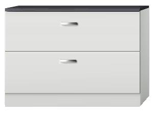 Ladenkast, pannenkast Lagos wit hoogglans 100cm RAI-440