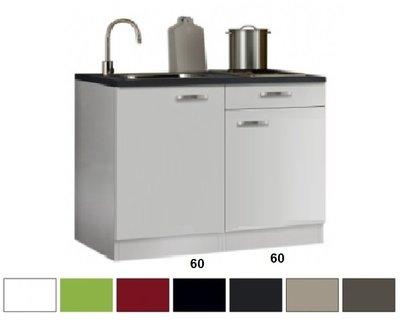 keukenblok 120 x 60 cm met een la + RVS aanrechtblad RAI-4412