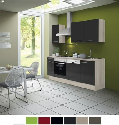 Kitchenette 210 antraciet hoogglans incl all apparatuur RAI-0352