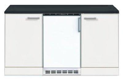 Kitchenette Wit 150cm met koelkast HRG-73100