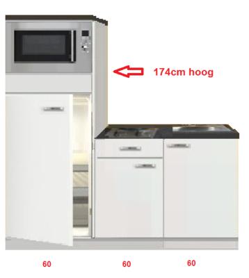 Keukenblok 180 incl koelkast en magnetron RAI-3303