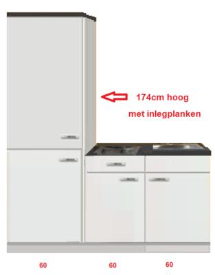 Keukenblok 180 met service kast RAI-3304