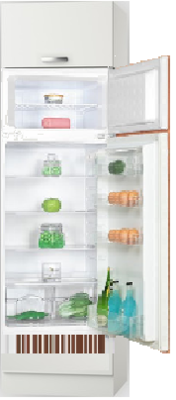 Hogekast incl inbouw koelkast van 144cm