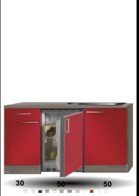 Kitchenette Imola Rood Glans 130cm HRG-88