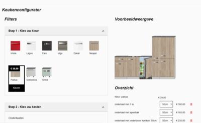 Stel zelf je keuken samen - Keuken Configurator