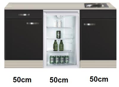 keukenblok 150cm met glazen koelkast RAI-4442
