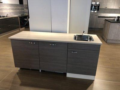 Voorgemonteerde kitchenette 180cm incl inbouw koelkast en vaatwasser RAI-1552