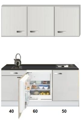 Kitchenette 150cm met inbouw koelkast van 60cm RAI-1555