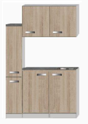 Kitchenette Padua 130cm met apothekerskast RAI-4491