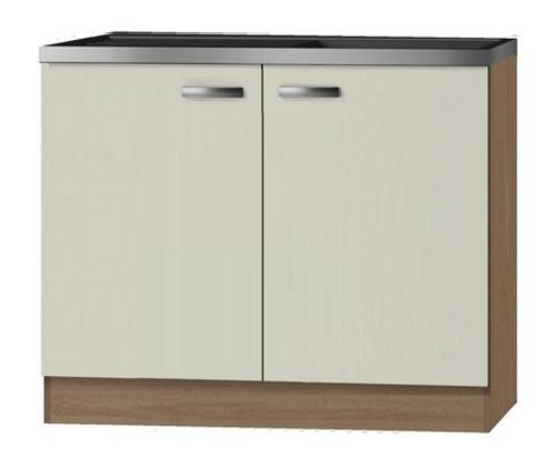Keukenblok Klassiek 60 Cream met RVS aanrecht 100 x 60cm RAI-82