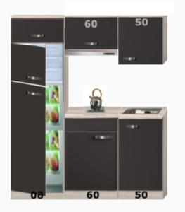 Keukenblok 170 cm incl koelkast en kookplaat RAI-743