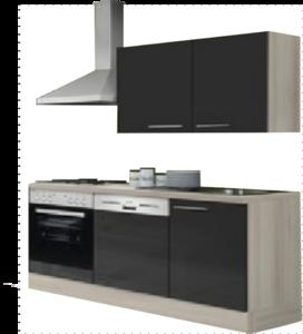 Kitchenette 160 antraciet hoogglans incl all apparatuur RAI-052