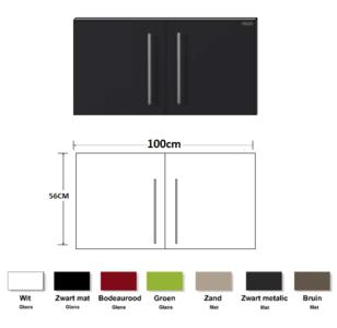 Metalen wandkast zwart metalic 90cm RAI-840