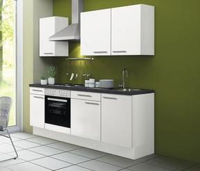 Kitchenette CONCEPT Bengt 210 cm wit incl. Ingebouwde apparaten RAI-4010