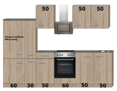 Keuken Compleet Beuken 300cm HRG-51129