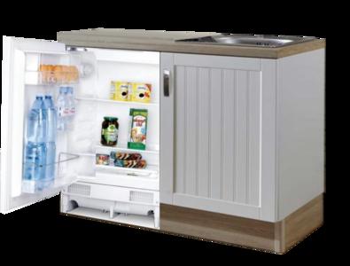 Design Keukenblok 110cm MDF met inbouw koelkast RAI-8192