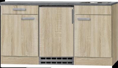 Kitchenette Neapels 150cm met koelkast en e-kookplaat HRG-08