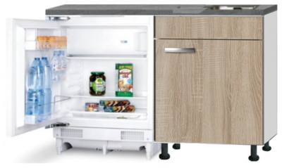 Kitchenette 120cm Padua incl inbouw koelkast RAI-048