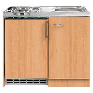 Pantry keuken 100 c 60cm met koelkast beuken RAI-858
