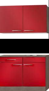 Keukenblok Imola 120cm met wandkasten RAI-5007