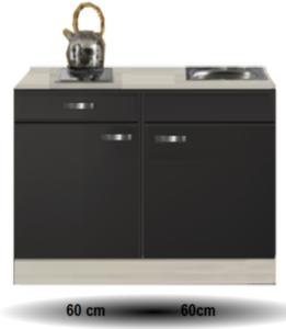 Keukenblok Antraciet 120cm RAI-510
